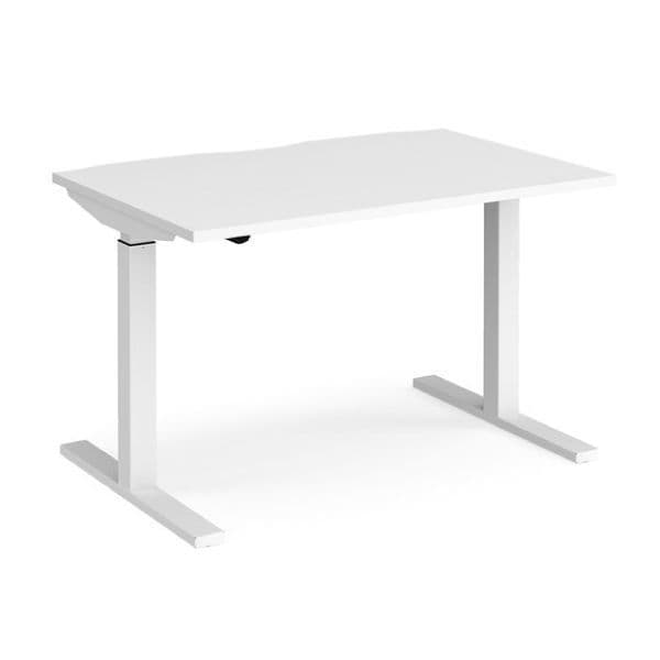 Elev8 Mono straight sit-stand desk & HAG Capisco 8010 White
